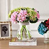 Artificial flowers,Hydrangea Artificial flowers overall Silk flower French romance fresh dining table Living room Fake flowers-F 34x34cm(13x13inch)