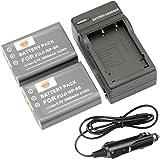 DSTE® アクセサリーキット Fujifilm NP-95 互換 カメラ バッテリー 2個+充電器キット対応機種 F30fd F31fd 3D W1 X100S X100 X-S1