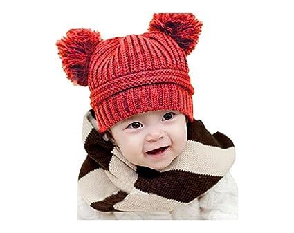 ea40ab41be4ca Lovely Winter Baby Beanie For Boys Girls Kids Cap Christmas Cotton Ball Hat  Warm Children Hood