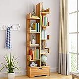 Bookshelf,U-HOOME White Modern Bookcase Freestanding Book shelf Tree-Shaped Storage Organizer Display Rack Holder Units…