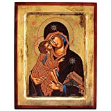 Virgin of Vladimir Greek Painted Icon