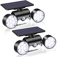 Solar Luz Pared Exterior LED Bawoo 2pcs Solar Luces de Seguridad Jardin Luces Panel Solar Foco Exterior Sensor de…