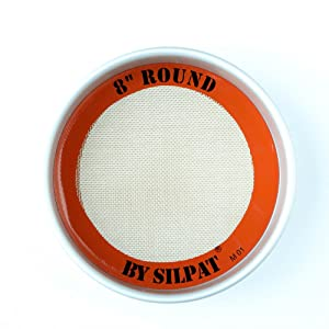 "Silpat Round Cake Liner, 8"", Orange"