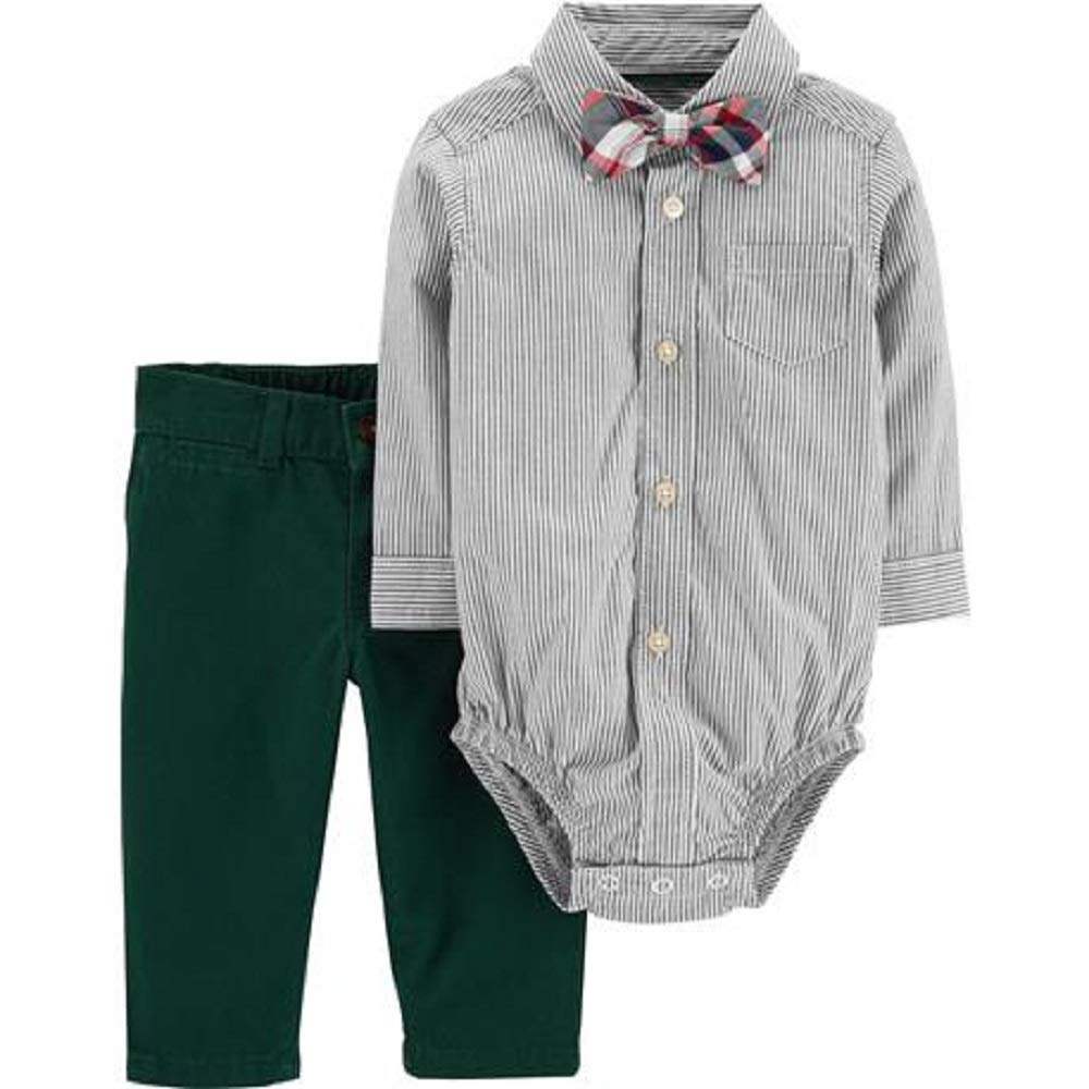 Carters Boys 3-Piece Dress Me Up Set with Bow tie Size 12M Green