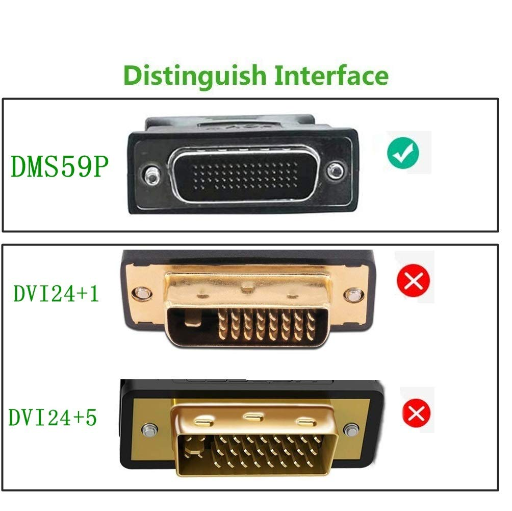 DMS 59 pin Dual hdmi DMS 59 Pin to 2 HDMI Cable,CableDeconn DMS 59 Pin Male to HDMI Female Dual Monitor Extension Cable Adapter for LHF Graphics Card
