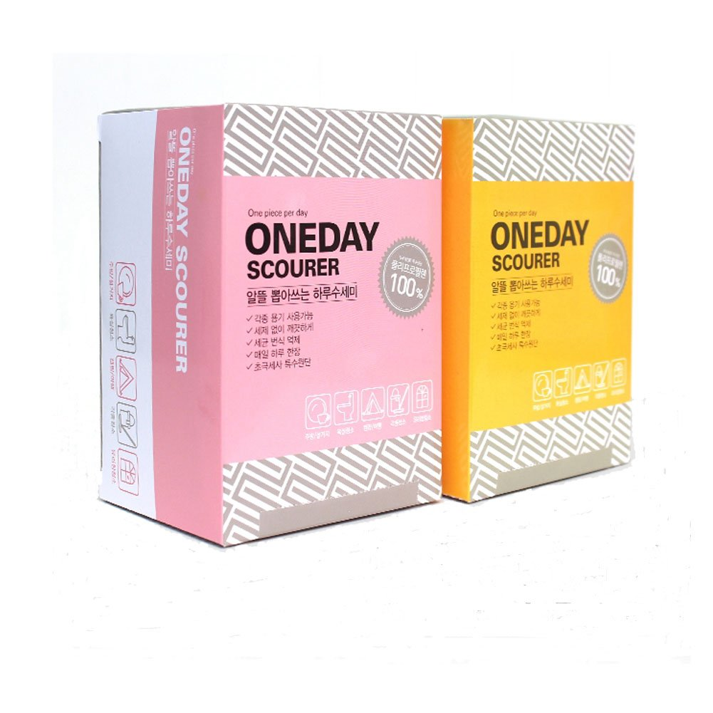 Oneday Scrubber for Dishwashing, Scrubbing, Cleaning Every Day Without Worrying About Bacterial Germs 2 Box( 60 sheets) by Crover Mall