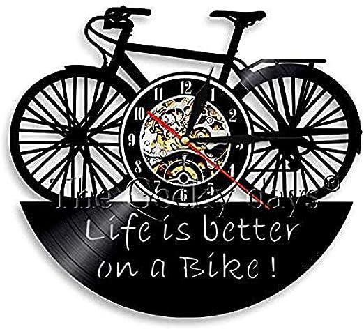 TPFEI Reloj de Pared 3D para Bicicleta La Vida es Mejor en una ...