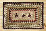 Earth Rugs 88-2745R-019BS Pp-019 Barn Stars Design Rectangle Rugs, 27″ x 45″, Burgundy/Mustard For Sale