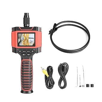 Akozon Endoscopio de mano 8.5mm 1M, TFT LCD Pantalla de 2.4 pulgadas Inspección Cámara