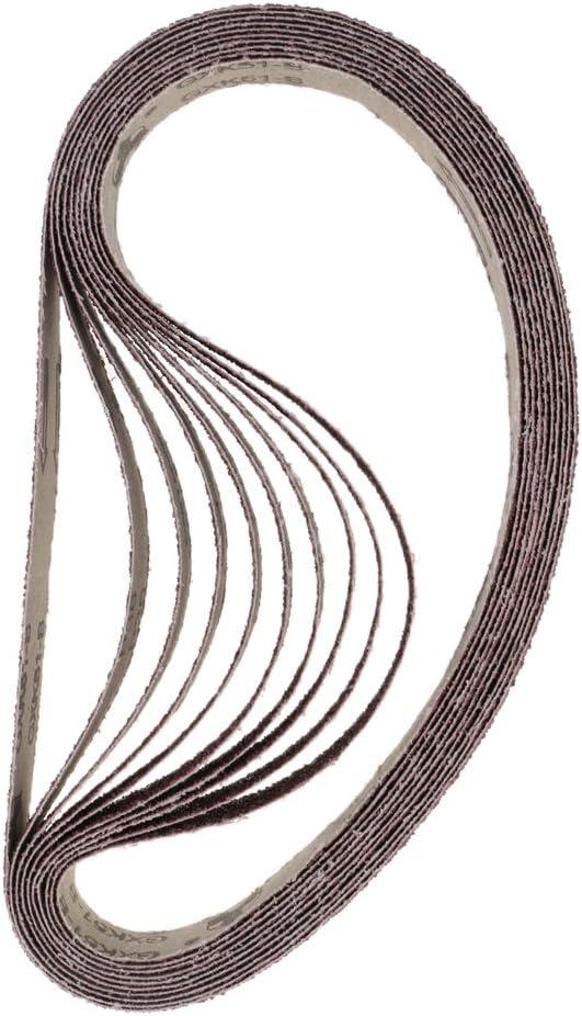 Paquet De 10 Ceintures De Pon/çage 1  X 30 400 Grit Oxyde Daluminium Polissant Grain Fin//Grain 25 Mm X 762 Mm