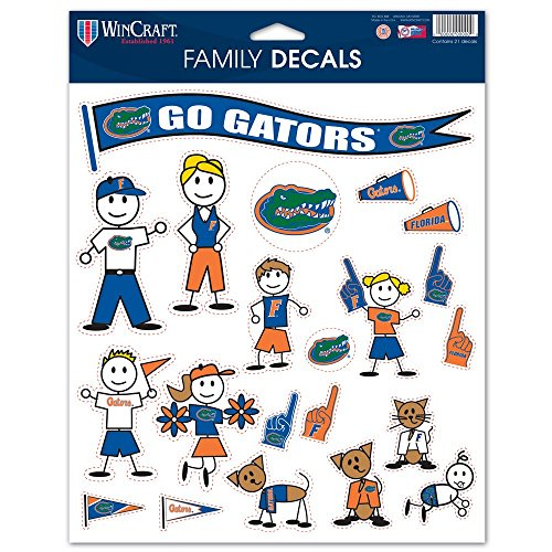 (WinCraft NCAA University of Florida 36995013 Family Decal Sheet, 8.5