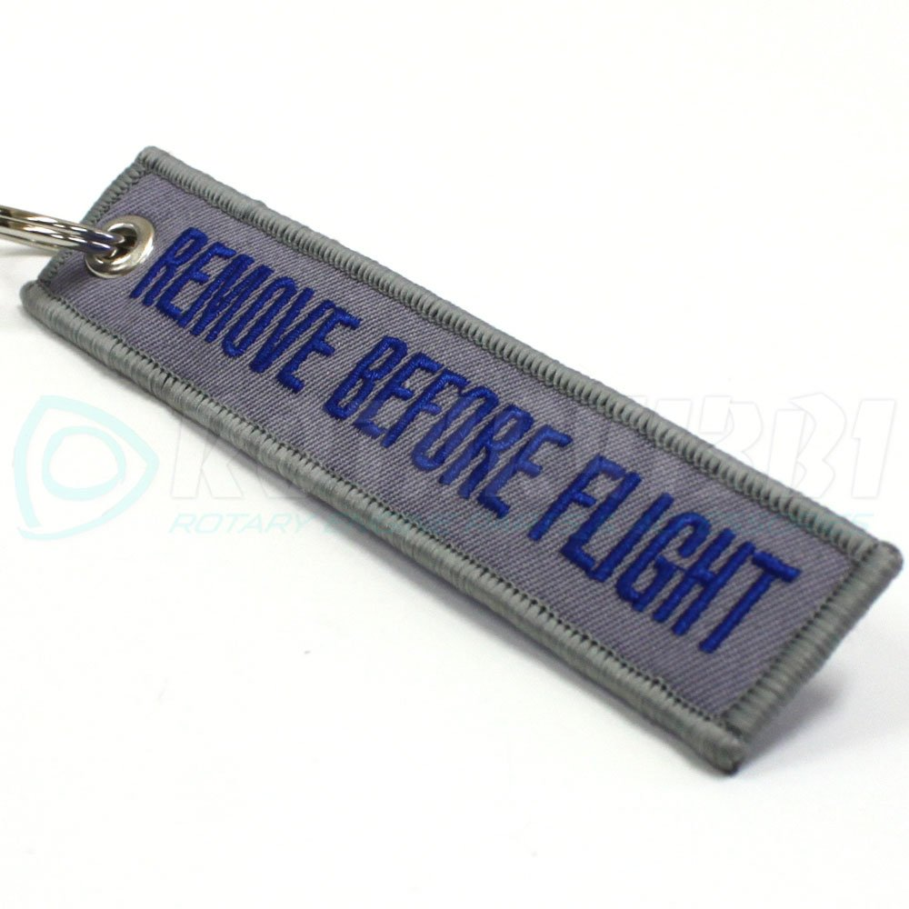 Remove Before Flight Keychain Rotary13B1 Gray//Blue RBF1410