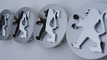 4 x Peugeot Buje Tapa Llanta Tapa nabenabdeckung 53 mm x 59 mm Wheel Centre Caps