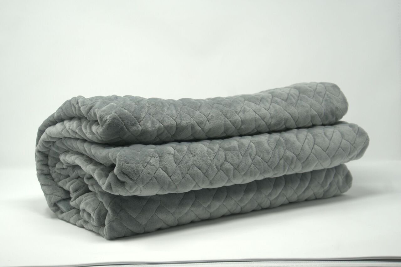 Hypnos Sleep 15lb Weighted Blanket And Cover | Made By Interlock Design | Get The Rest You Deserve, Naturally |