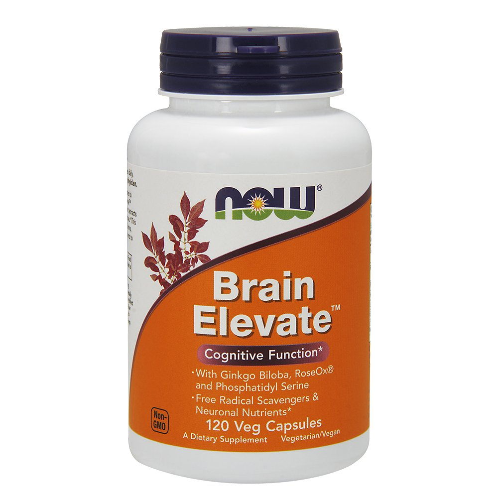 Now Supplements, Brain Elevate, Featuring Ginkgo Biloba, RoseOx and Phosphatidyl Serine, 120 Veg Capsules