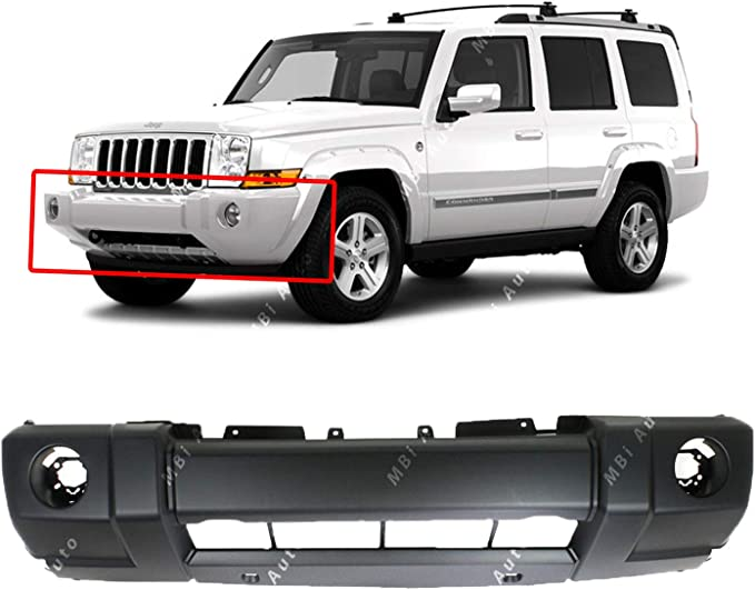 NEW REAR BUMPER COVER PRIMED FITS 2006-2010 JEEP COMMANDER CH1100869