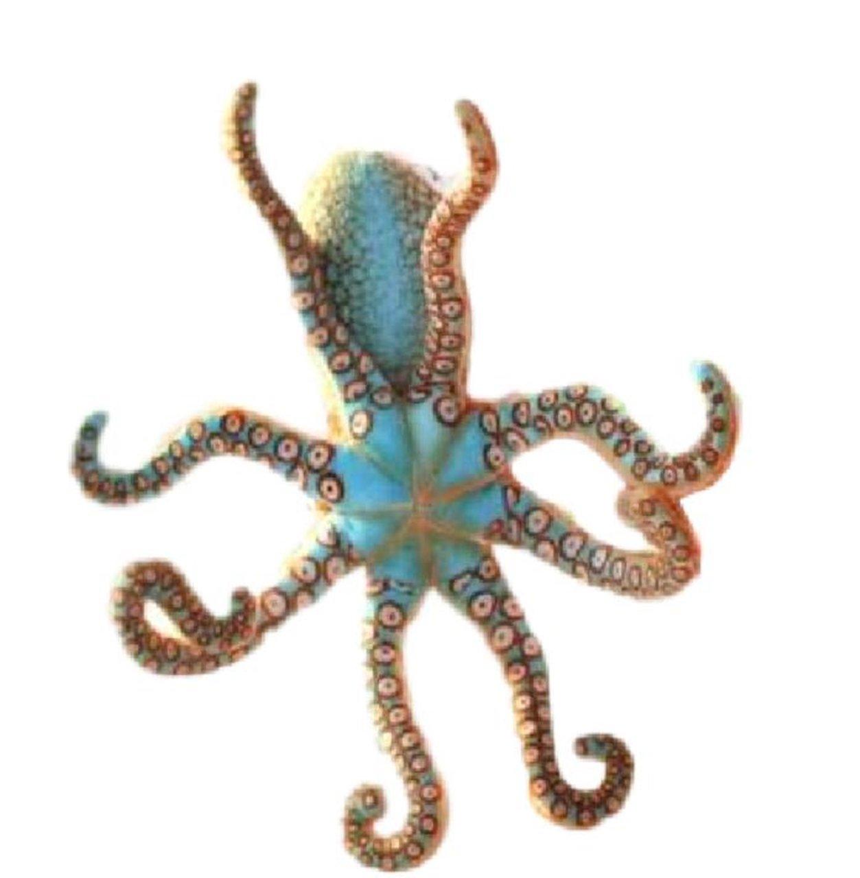 15.7 15.7 1PC Glasshe Soft Plush Toy Realistic Stuffed Marine Animals Octopus Orange,15.7or 40CM