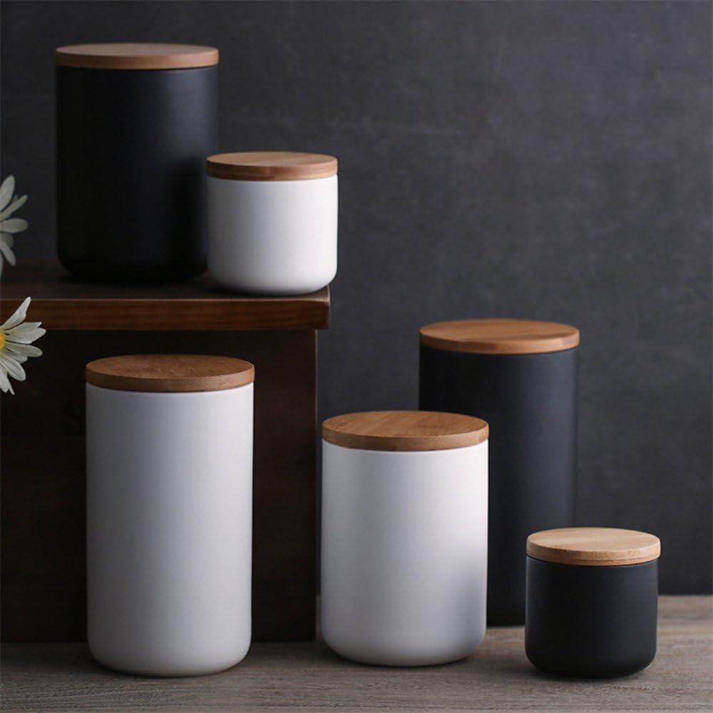 Haosens Vorratsdose Keramik,Porzellan kaffeedose teedose aufbewahrungsdosen  küche Zuckerdose,Dose für Tee, Dose für Kaffee - Verschiedene