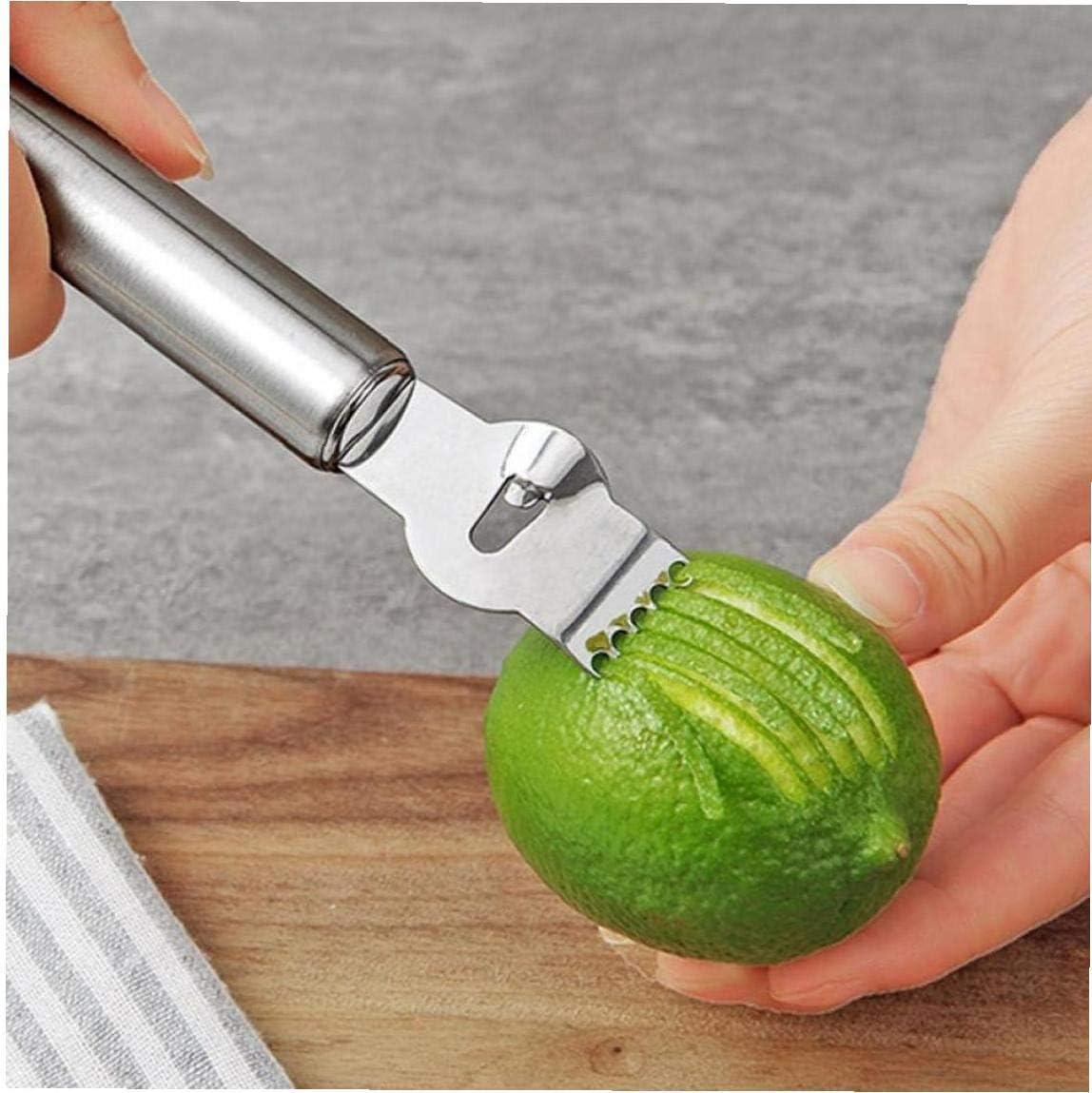 Amoyer Gadgets de Cuisine en Acier Inoxydable de Citron Peeler Zesteur R/âpe Citron Orange Agrumes Grater Outils Peeling Bar Accessoires