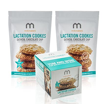 Milkmakers Oatmeal Chocolate Chip Lactation Cookies: Amazon ...