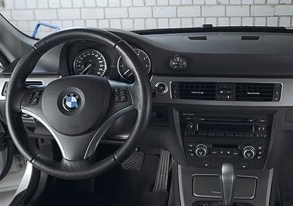 Noir WINOMO Thermom/ètre de voiture petite avec pointeur en acier pour int/érieur de voiture