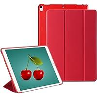 GVTECH iPad Mini 1 2 3 Smart Case Cover [Cuero Sintético] Soft Back Funda Magnética con Función de Apagado/Función de Encendido [Ultra Slim] [Ligero] para iPad Mini 1/2/3 (Rojo)