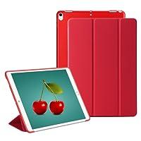 RKINC iPad Mini 4 Smart Case Cover [Cuero Sintético] Soft Back Funda Magnética con Función de Apagado/Función de Encendido [Ultra Slim] [Ligero] para iPad Mini 4 (Rojo)