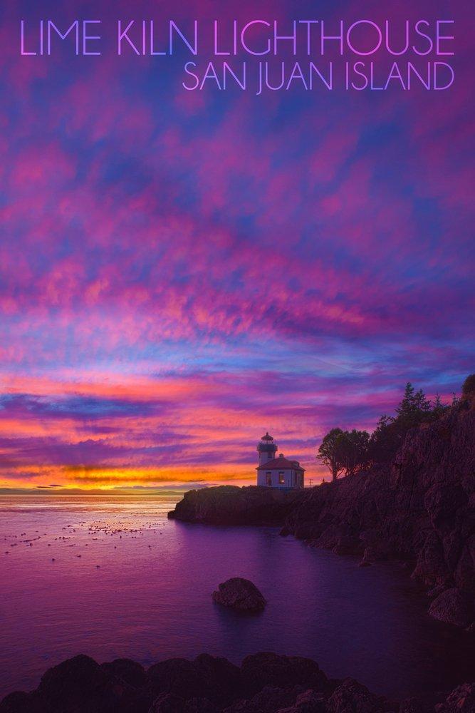 San Juan島、ワシントン – ライムKiln灯台 36 x 54 Giclee Print LANT-54975-36x54 36 x 54 Giclee Print  B017E9WV6K
