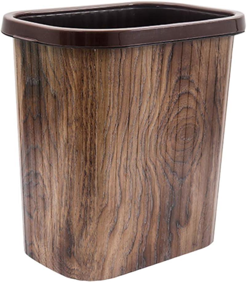 Garneck Rustic Farmhouse Wastebasket Bin Trash Can Decorative Can for Bathroom Kitchen Office Dorm Room Laundry