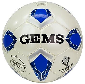 Balón de fútbol Gems Viper olímpicas 4, azul claro: Amazon.es ...