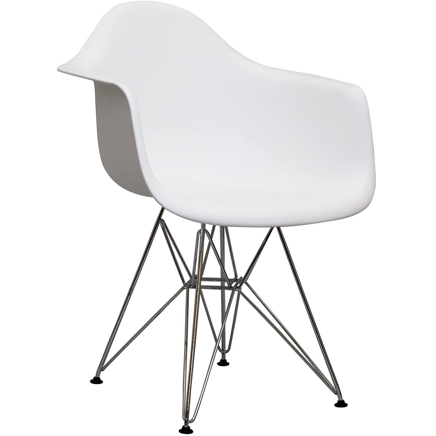 Amazon.com   Herman Miller Eames DAR Style Molded Plastic Eiffel Armchair  (White)   Chairs