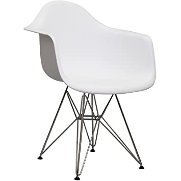 Wonderful Herman Miller Eames DAR Style Molded Plastic Eiffel Armchair (White)