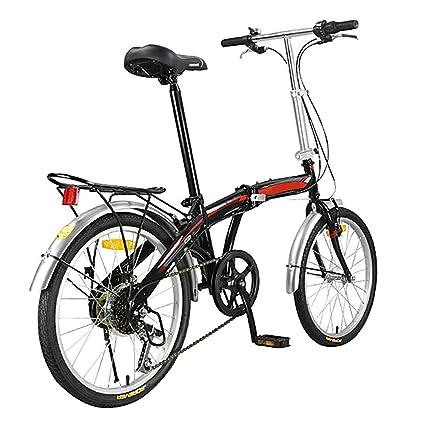 BANGL B Bicicleta Plegable Bicicleta Marco de Acero con Alto ...