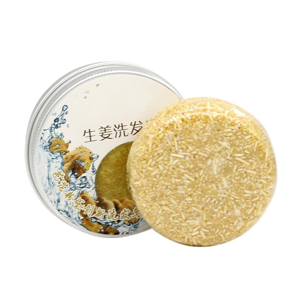Shampooing secs Savon Cheveux Fait Main Hair Soap Conditioner de huile essentielle de plante (Gingembre) Cocohot