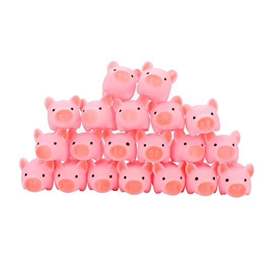10Pcs Pink Rubber Pig Baby Bath Toy for Kids Baby Bathroom Shower Toys SK
