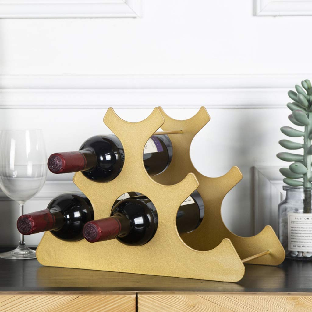 LJBOZ Estante para Botellas de Vino Creativo, Estante de ...