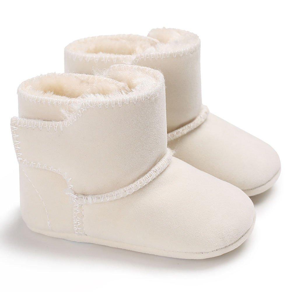 Potato001 Toddler Baby Boy Girls Snow Boots Warm Anti-Slip Soft Sole Prewalker Crib Shoes