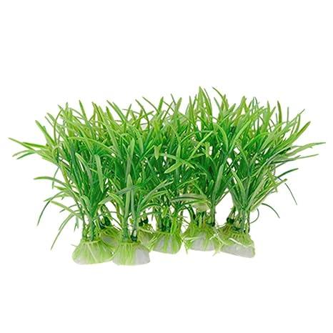Plantas de plástico para decoración de Acuario, Color Verde, de la Marca Sourcingmap