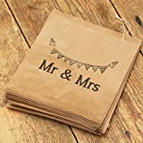 Luck And Luck Kraft Brown 'Mr And Mrs' Bag x 90 - Wedding Favour / Candy Bar