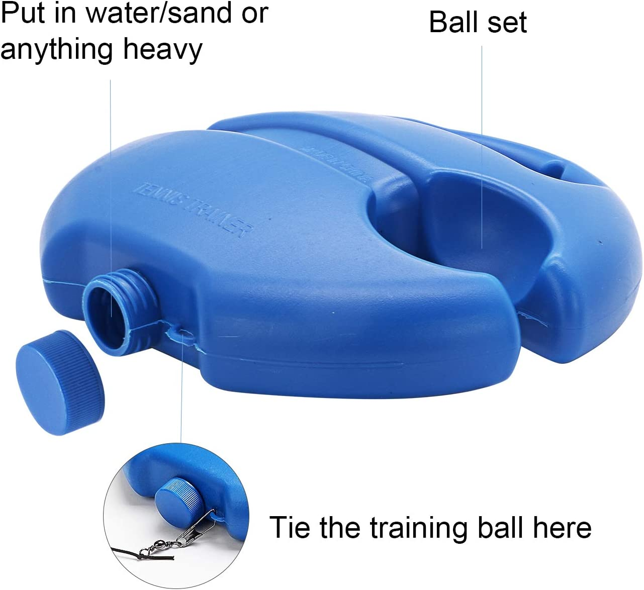 Tennis Equipment Rebound Ball Practice Training Tool Sport Exercise Self-Study for Adult Kids BeiLan Tennis Trainer
