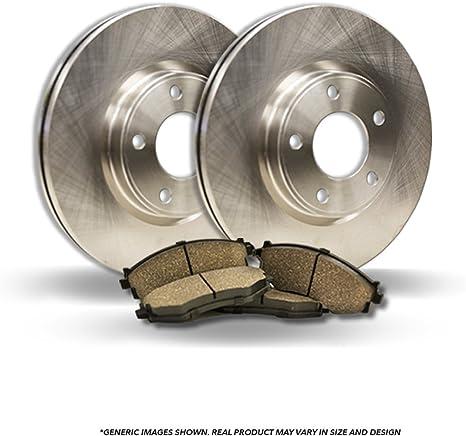 2 OEM Repl High-End Fits: 5lug 4 Ceramic Pads Front Kit Disc Brake Rotors