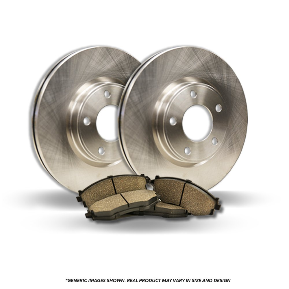 (Rear Kit)(High-End) 2 OEM Replacement Disc Brake Rotors + 4 Ceramic Pads(Fits:- Element TL)(5lug)