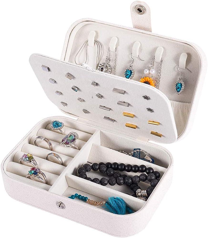 HooAMI Bo/îtes /à Bijoux Voyage Femme Filles Organisateur de Bijoux Coffret /à Bijoux Jewelry Stockage Cas pour Bagues Colliers Boucles doreilles Bracelets