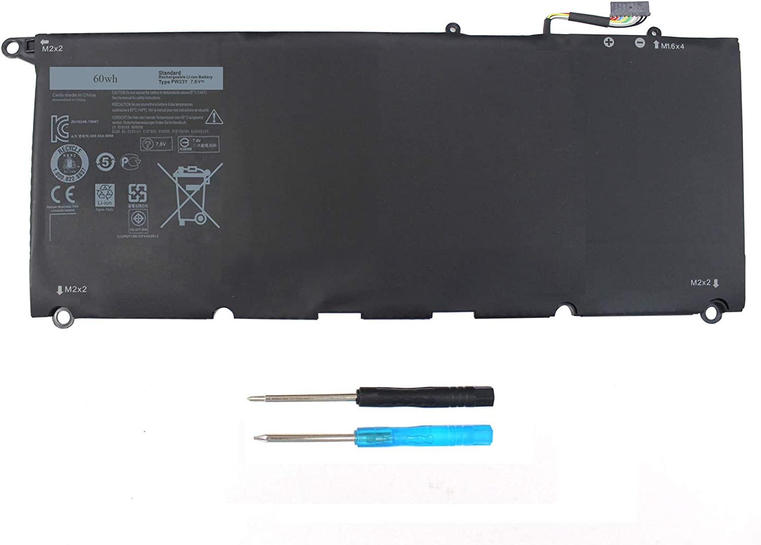 PW23Y Laptop Battery Compatible with Dell XPS 13 9360 P54G002 13-9360-D1505G 13-9360-D1605G 13-9360-D1605T 13-9360-D1609 13-9360-D1609G 13-9360-D1705G XPS 13 2017 Series TP1GT RNP72 0RNP72 0TP1GT