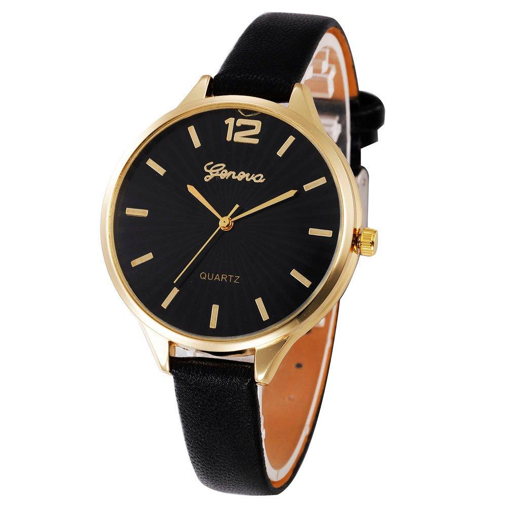 JiaMeng Pulsera del Reloj Reloj analógico de Cuarzo de imitación de Cuero de imitación de Mujer Casual Checkers (Negro): Amazon.es: Ropa y accesorios