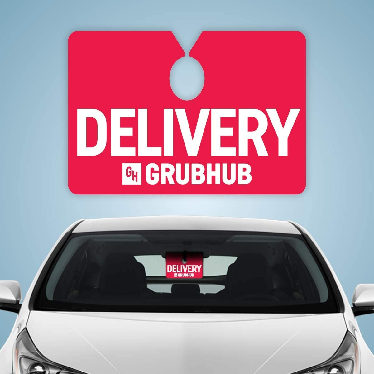 Grubhub 2x2 Tips Keep Me Driving Delivery Bag Stickers Personalized Food Delivery