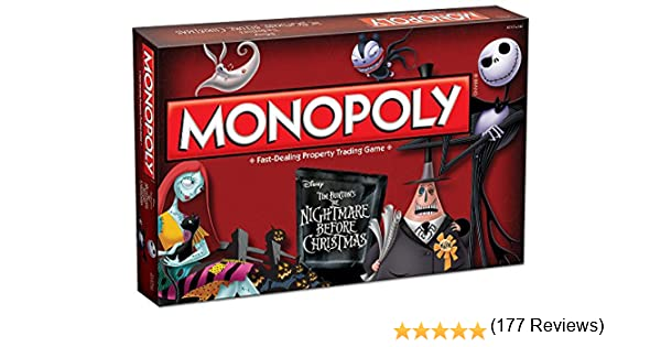 Monopoly Tim Burtons The Nightmare Before Christmas Board Game by USAopoly: Amazon.es: Juguetes y juegos