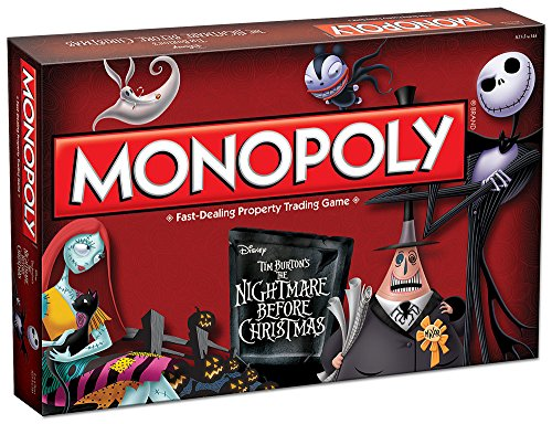 Monopoly Tim Burton's The Nightmare Before Christmas Board Game -