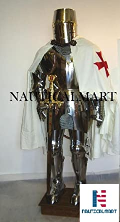 NAUTICALMART Medieval Knight Suit Of Templar Toledo Armor Combat Full Body Armour by : knights templar costume authentic  - Germanpascual.Com