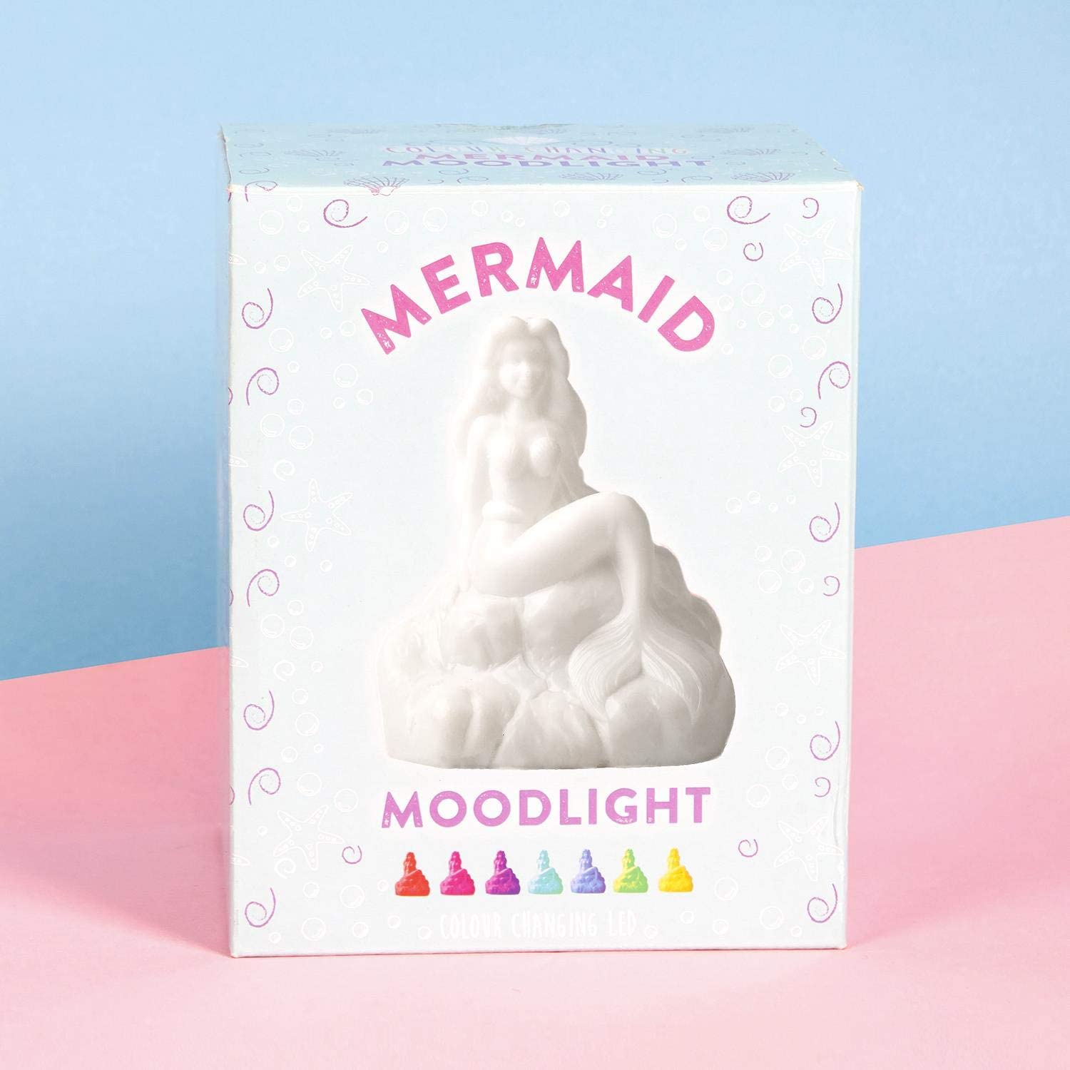 MERMAID NOVELTY COLOUR CHANGING LED MOOD LIGHT LAMP NEW AND GIFT BXED